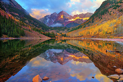 Photograph - Maroon Lake Dawn by Greg Norrell
