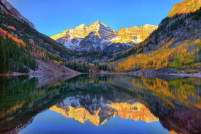 Photograph - Maroon Lake Morning Reflections by Greg Norrell