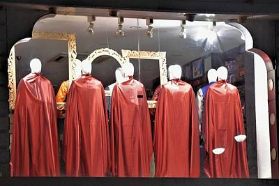 Photograph - Maroon Mannequins by Kim Bemis