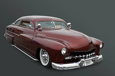 Photograph - Maroon Merc by Bill Dutting
