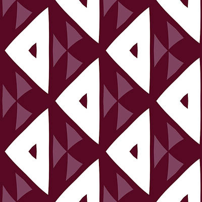 Digital Art - Maroon Modern Decor Design by Georgiana Romanovna
