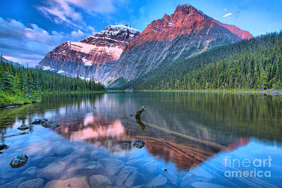 Photograph - Maroon Morning At Edith Cavell by Adam Jewell