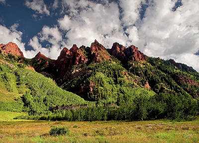 Photograph - Maroon Mountains by Endre Balogh