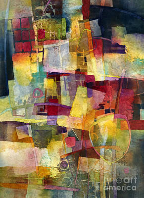 Abstract Works - Maroon Reverie by Hailey E Herrera