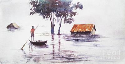 Painting - Marooned by Asha Sudhaker Shenoy
