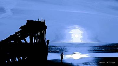 Peter Iredale Photograph - Marooned by Steve Warnstaff