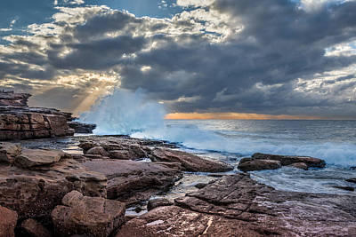 Maroubra Photograph - Maroubra Beach Rocks by Evan Christie