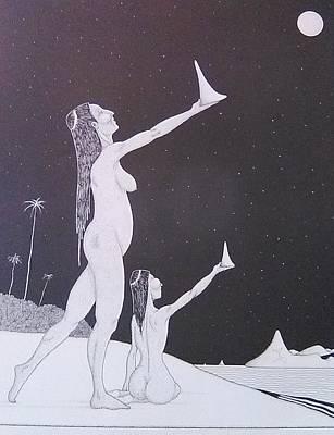 Taino Drawing - Maroya by Jose Guerrido jr
