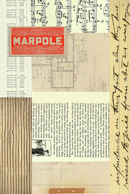 Cardboard Mixed Media - Marpole by Nancy Merkle
