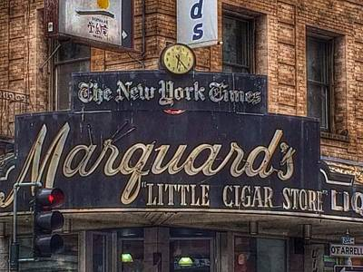 Photograph - Marquard's Little Cigar Store Sign 1907 by Bill Owen