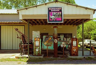 Photograph - Marquardt Garage - Sisterdale Texas - Vintage Shop by Debra Martz