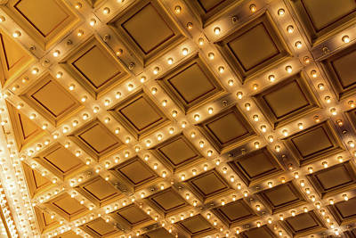 Photograph - Marquee Lights On Theater Ceiling by David Gn