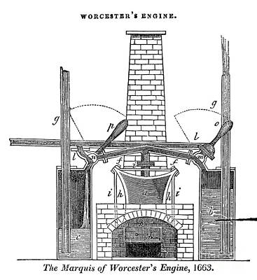 Steam Turbine Wall Art - Photograph - Marquess Of Worcesters Engine, 1663 by Science Source