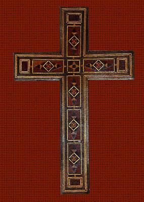 Photograph - Marquetry Cross by Anne Cameron Cutri