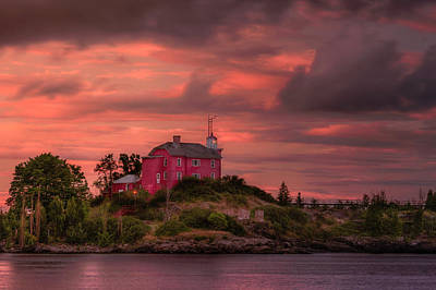 Marquette Harbor Lighthouse Art Print