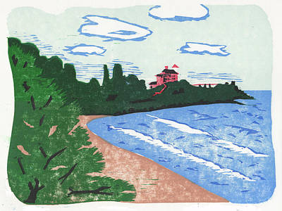 Marquette Drawing - Marquette Light by Ben Bohnsack