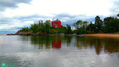 Photograph - Marquette Lighthouse by Michael Rucker