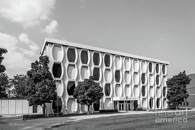 Retro Photograph - Marquette University Lalumiere Hall by University Icons