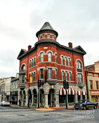 Photograph - Marquis Building - Historic Staunton Virginia by Kerri Farley