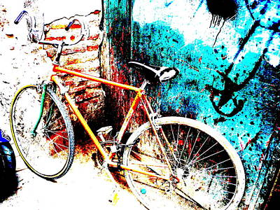 Funkpix Digital Art - Marrakech Funky Bike  by Funkpix Photo Hunter