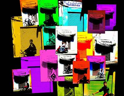 Funkpix Digital Art - Marrakech Traffic Scenes by Funkpix Photo Hunter
