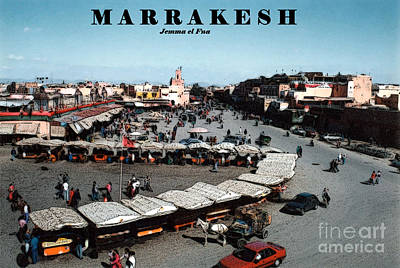 Marrakesh--jemma El Fna Art Print by Linda  Parker