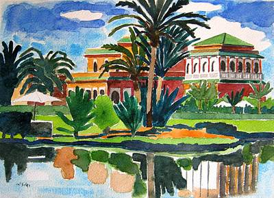 Marrakesh Painting - Marrakesh Morocco by Lesley Giles