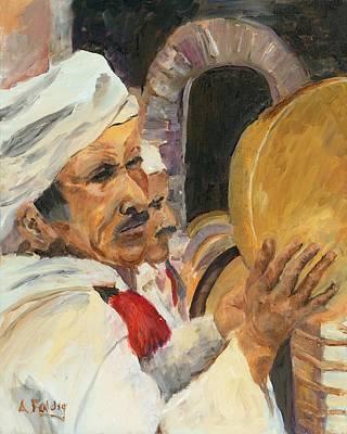 Marrakesh Musician Art Print by Albert Fendig