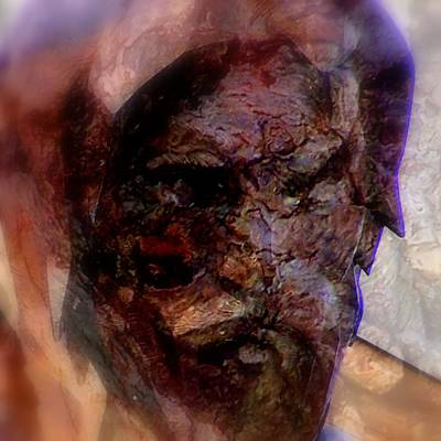 Digital Art - Marred Visage 4 by Kathleen Luther