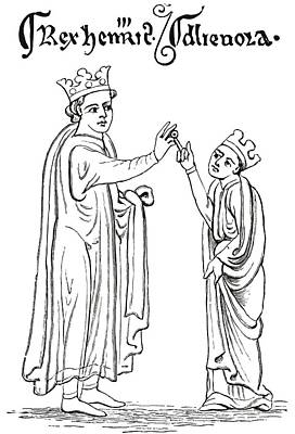Provence Drawing - Marriage Of Henry IIi Of England To by Vintage Design Pics