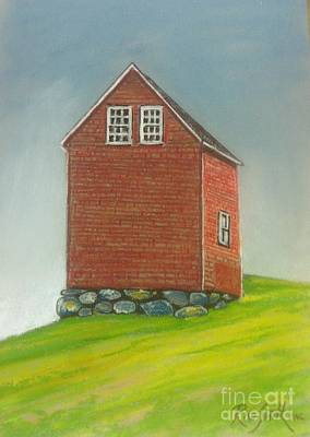 Pastel - Marriott.s Cove Barn by Rae  Smith PAC