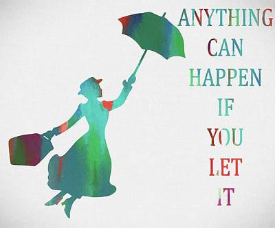 Daydreamer Painting - Marry Poppins Quote by Dan Sproul