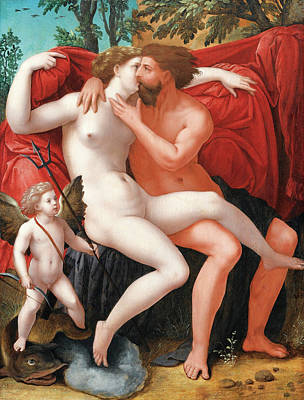Master Of The Female Half-lengths Painting - Mars And Venus by The Master of the Female Half-Lengths