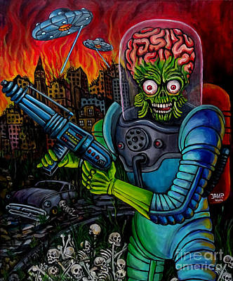 Amazing Stories Painting - Mars Attacks 2 by Jose Mendez