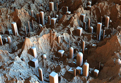 Digital Art - Mars Colony One by Hal Tenny