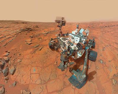 Photograph - Mars Curiosity Rover Selfie by Ram Vasudev