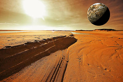 Abstract Landscape Digital Art - Mars by Dapixara Art