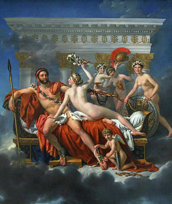 Archangel Painting - Mars Disarmed By Venus by Jacques-Louis David