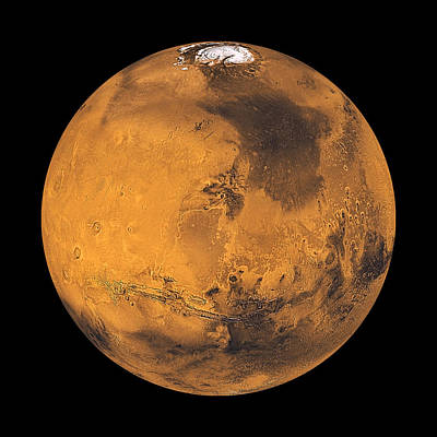 Photograph - Mars Enhanced by Weston Westmoreland