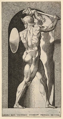 Drawing - Mars by Giovanni Jacopo Caraglio