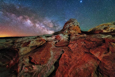 Photograph - Mars Or White Pocket Milky Way by Michael Ash