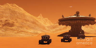 Starcraft Painting - Mars Outpost by Corey Ford