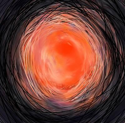 Planet System Drawing - Mars by Rachel Christine Nowicki