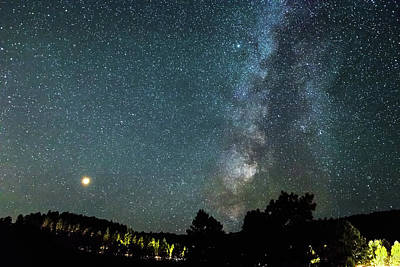 Photograph - Mars With Milky Way by James BO Insogna