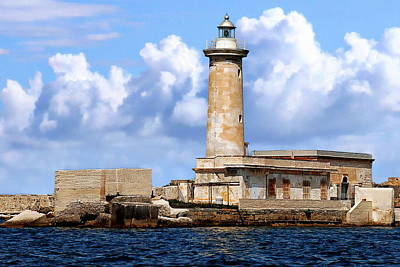 Photograph - Marsala Lighthouse by Anthony Dezenzio