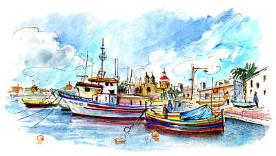 Painting - Marsaxlokk 01 by Miki De Goodaboom