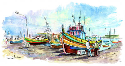 Painting - Marsaxlokk 05 by Miki De Goodaboom