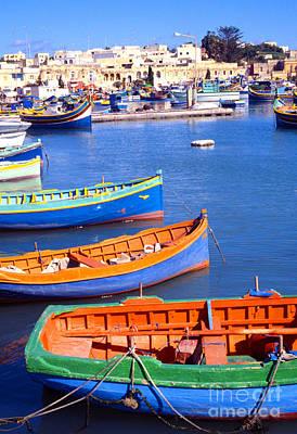 Marsaxlokk Photograph - Marsaxlokk Bay Malta by Thomas R Fletcher