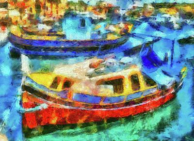 Digital Art - Marsaxlokk, Malta by Leigh Kemp