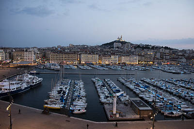 Mountins Photograph - Marseille At Night by Hugh Smith